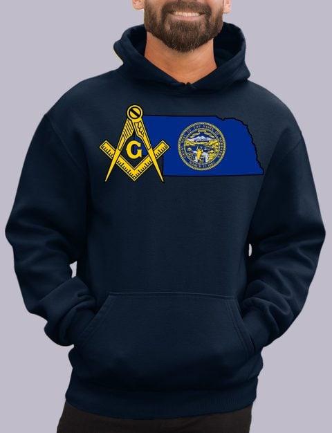 Nebraska Masonic Hoodie nebraska navy hoodie