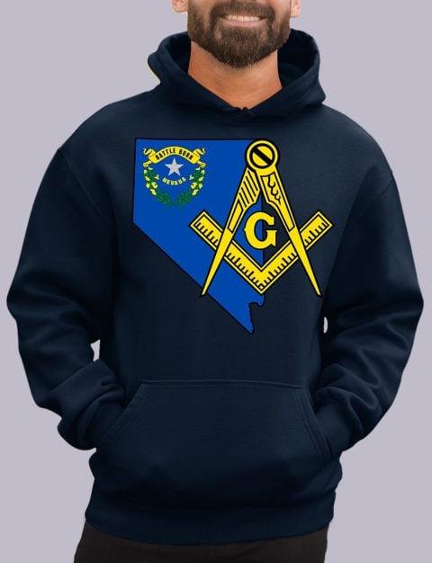Nevada Masonic Hoodie nevada navy hoodie