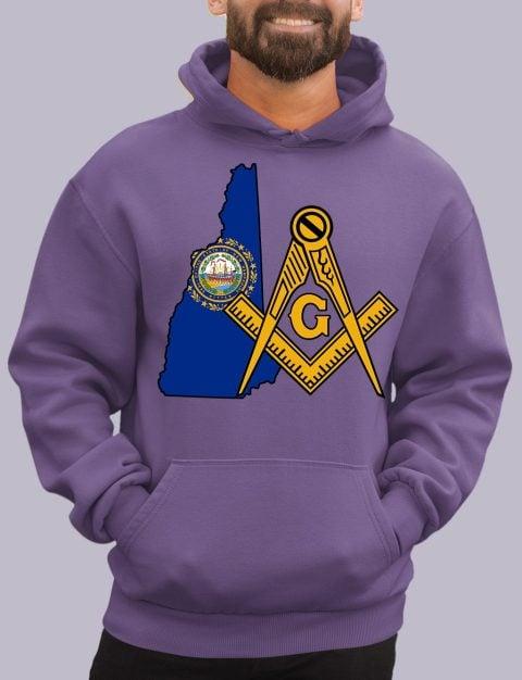 New Hampshire Masonic Hoodie new hampshire purple hoodie