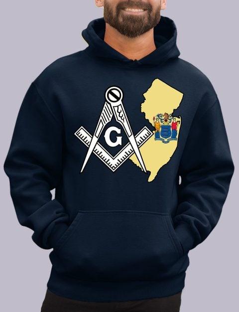 New Jersey Masonic Hoodie new jersey navy hoodie