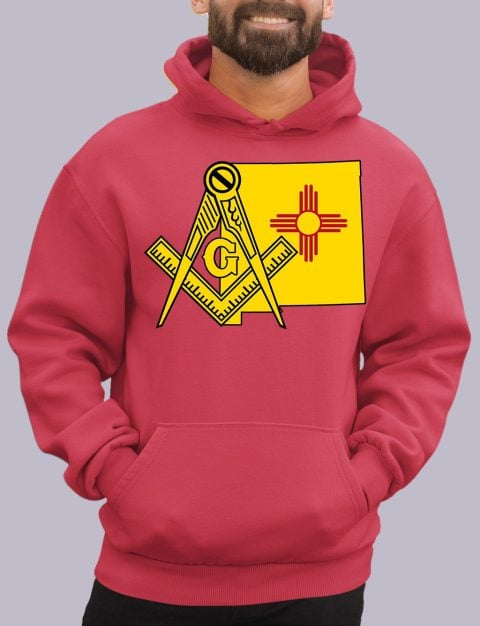 New Mexico Masonic Hoodie new mexico red hoodie