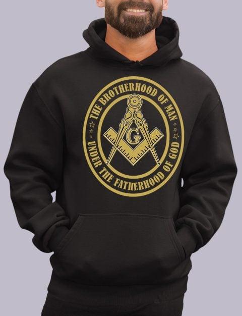 The Brothehood Of Man Masonic Hoodie the brotherhood black hoodie