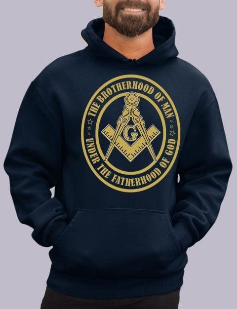 The Brothehood Of Man Masonic Hoodie the brotherhood navy hoodie