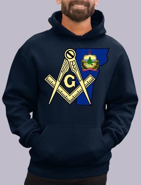Vermont Masonic Hoodie vermont navy hoodie