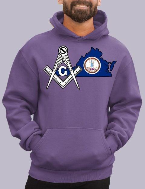 Virginia Masonic Hoodie virginia purple hoodie