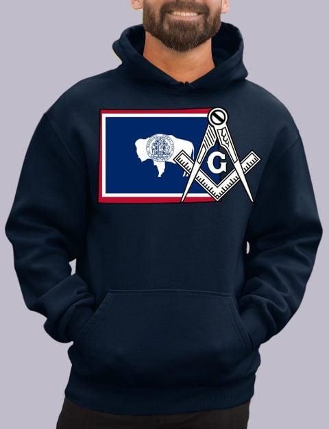 Wyoming Masonic Hoodie wyoming navy hoodie