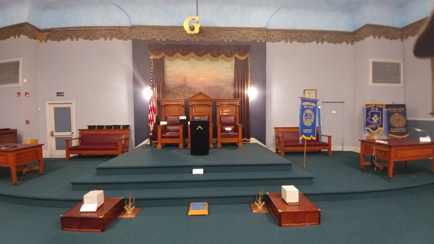 The Virtual Lodge Room: Freemasonry in Second Life (Masonic lodge room) Masonic Lodge Room 2