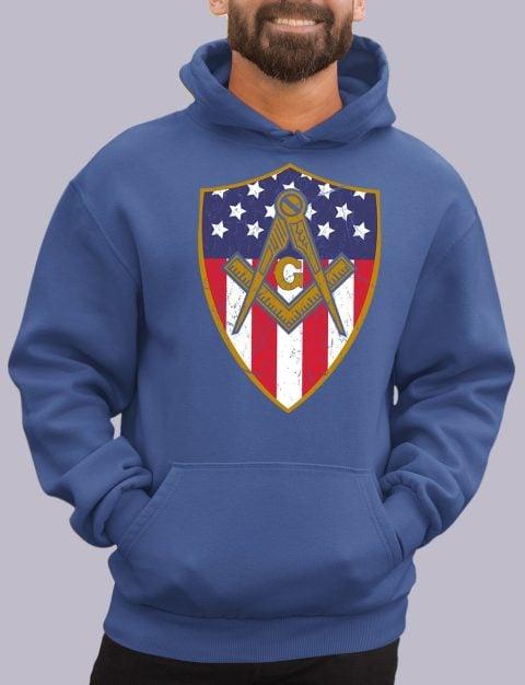 Old Union Shield Masonic Hoodie masonic shield royal hoodie