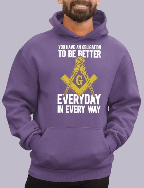 You Have An Obligation Masonic Hoodie obligation purple hoodie