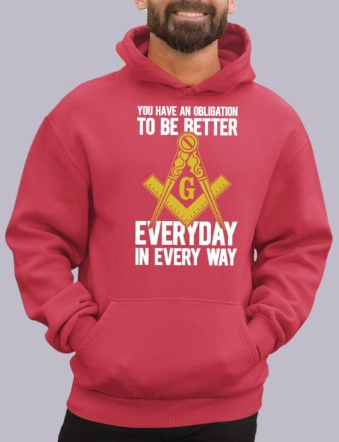 You Have An Obligation Masonic Hoodie obligation red hoodie