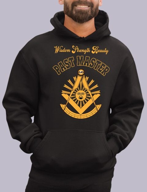 Wisdom Strength Beauty Past Master Masonic Hoodie past master black hoodie 1