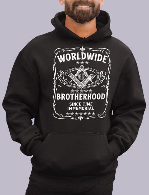 Worldwide Brotherhood Masonic Hoodie worldwide black hoodie