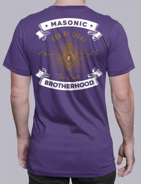 Masonic Brotherhood T-Shirt Masonic Brotherhood purple shirt back 7