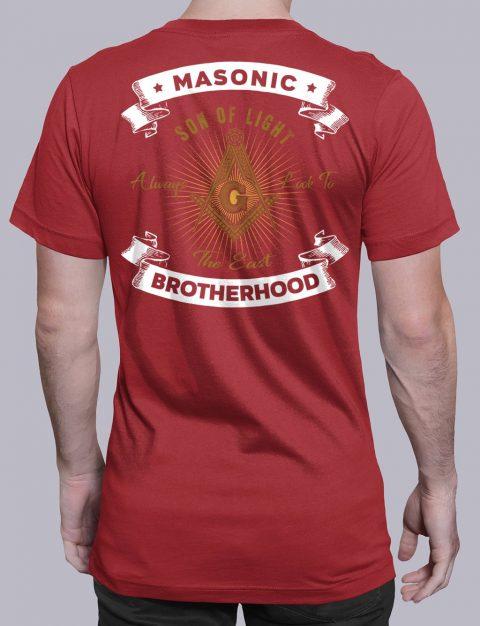 Masonic Brotherhood T-Shirt Masonic Brotherhood red shirt back 7