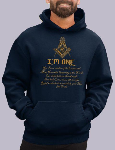I Am One Masonic Masonic Hoodie i one navy hoodie