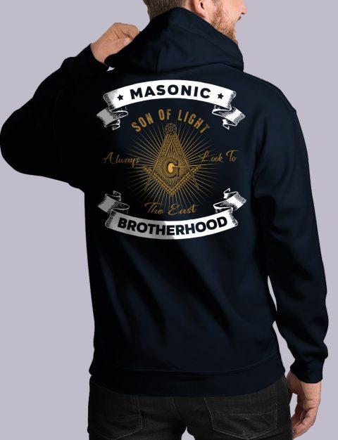 Masonic Brotherhood Masonic Hoodie masonic bros back navy hoodie 1