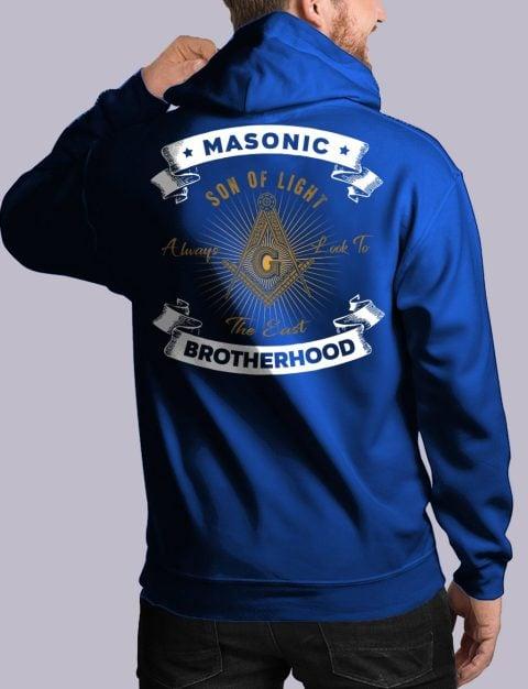 Masonic Brotherhood Masonic Hoodie masonic bros back royal hoodie 1