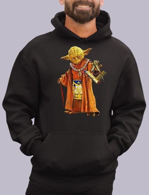 Master Yoda Freemason Masonic Hoodie yoda black hoodie