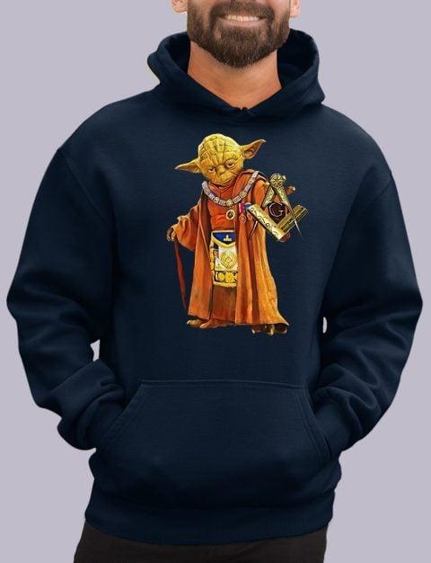 Master Yoda Freemason Masonic Hoodie yoda navy hoodie