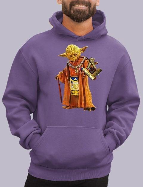 Master Yoda Freemason Masonic Hoodie yoda purple hoodie