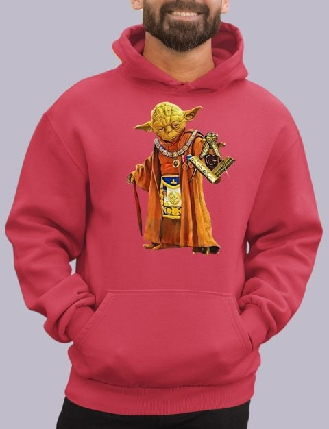 Master Yoda Freemason Masonic Hoodie yoda red hoodie