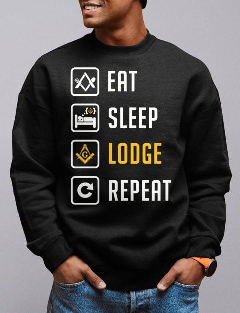 Eat Sleep Lodge Repeat Masonic Sweatshirt eat sleep black sweatshirt