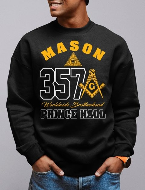Mason 357 Prince Hall Sweatshirt mason 357 black sweatshirt