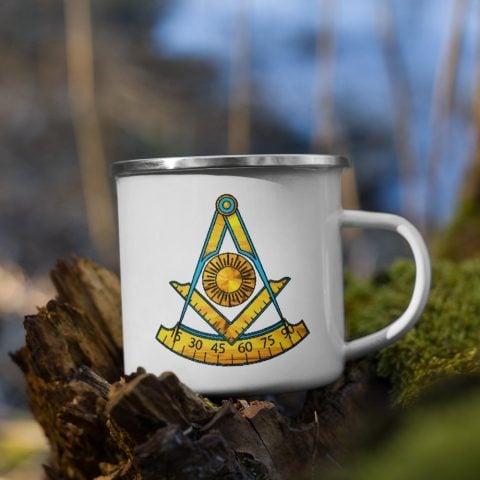 Past Master Masonic Enamel Mug 12 Oz mockup 47b5b42b