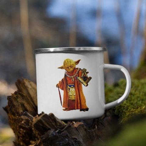 Master Yoda Masonic Enamel Mug 12 Oz mockup dd0fc401