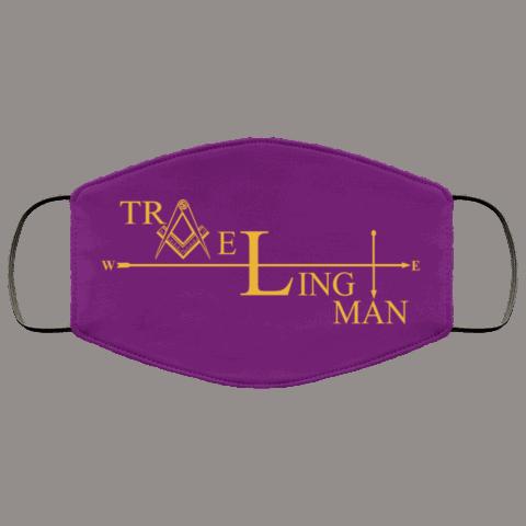 Traveling Man Freemason Masonic Face Mask redirect 267