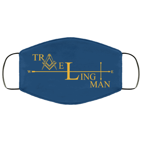 Traveling Man Freemason Masonic Face Mask redirect 268