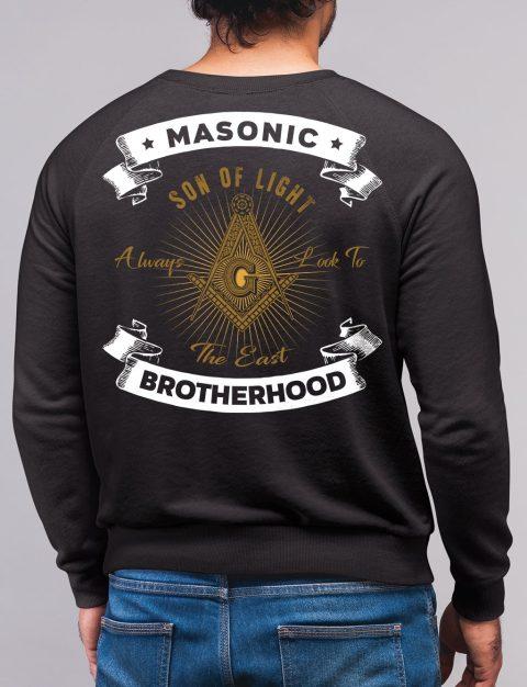 Masonic Brotherhood Sweatshirt son of light black sweatshirt