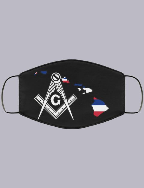 Havaii Masonic Face Mask state6