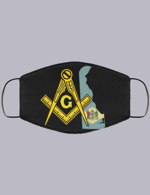 Delaware Masonic Face Mask state9