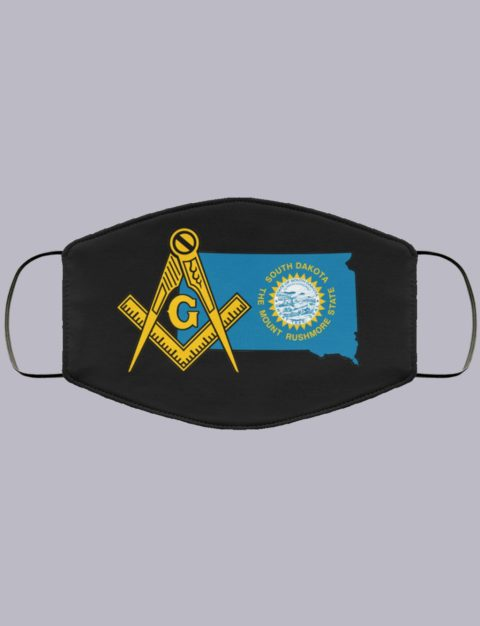 South Dakota Masonic Face Mask state9997