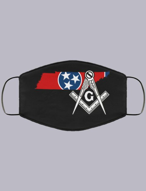 Tennessee Masonic Face Mask state9999
