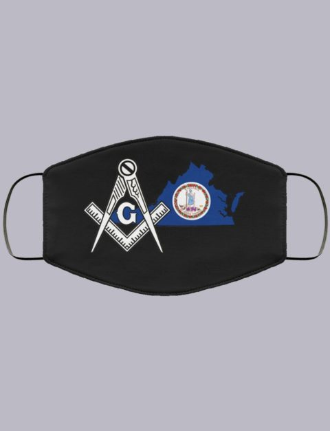 Virginia Masonic Face Mask state999990