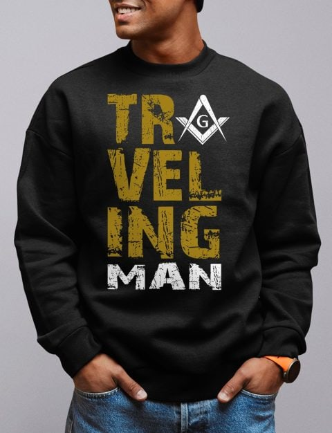 Traveling Man Sweatshirt traveling man black sweatshirt