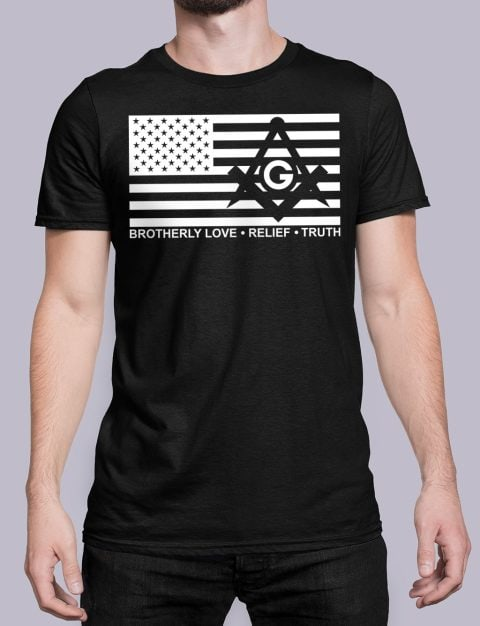 Brotherly Love, Relief and Truth Masonic T-shirt Brotherly Love Relief and Truth black shirt