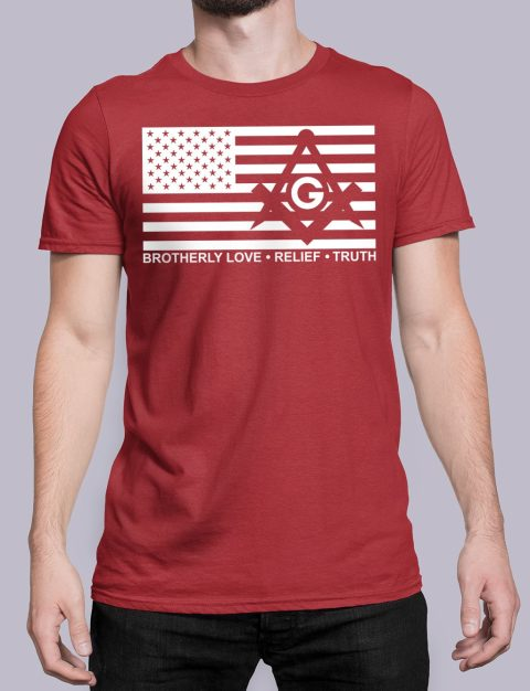 Brotherly Love, Relief and Truth Masonic T-shirt Brotherly Love Relief and Truth red shirt