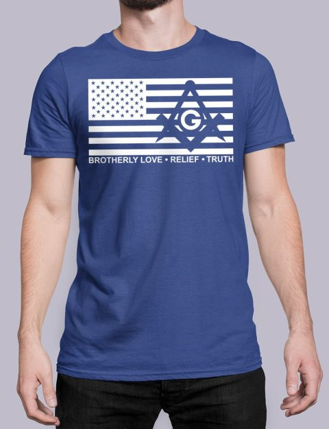 Brotherly Love, Relief and Truth Masonic T-shirt Brotherly Love Relief and Truth royal shirt