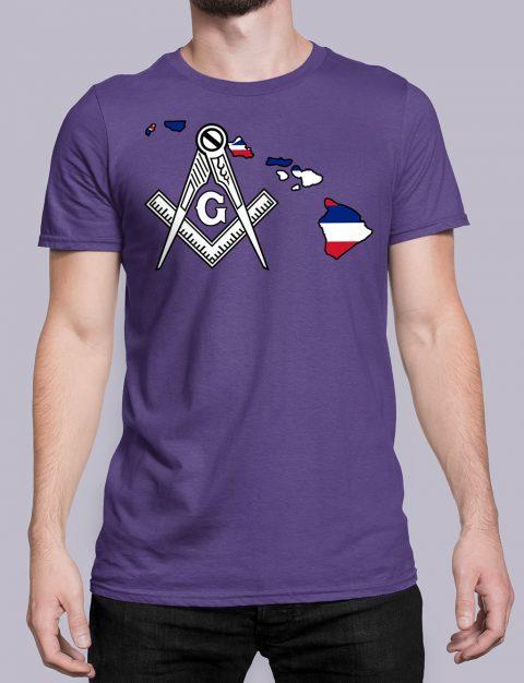 Hawaii Masonic Tee Hawaii purple shirt