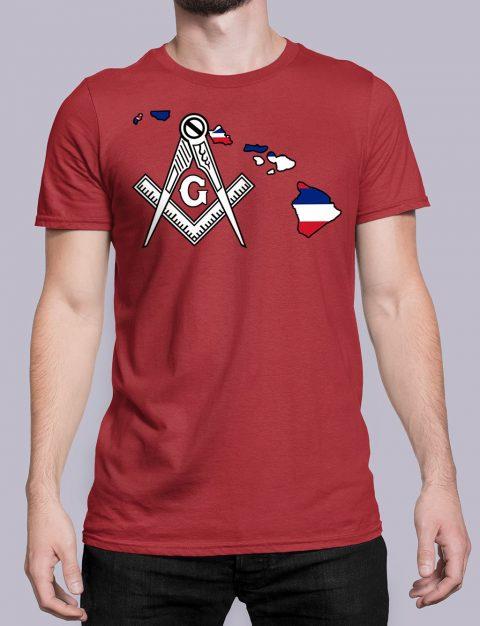 Hawaii Masonic Tee Hawaii red shirt