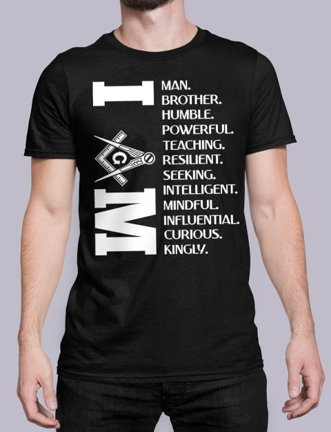 I Am Masonic T-Shirt I am black shirt