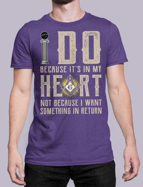 I Do Because It's In My Heart Masonic T-Shirt I do masonic purple shirt 15