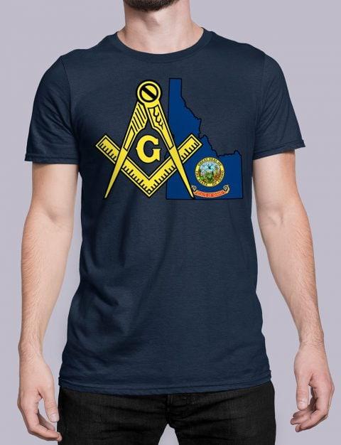 Idaho Masonic Tee Idaho navy shirt