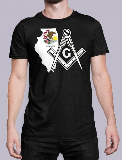 Illinois Masonic Tee Illinois black shirt