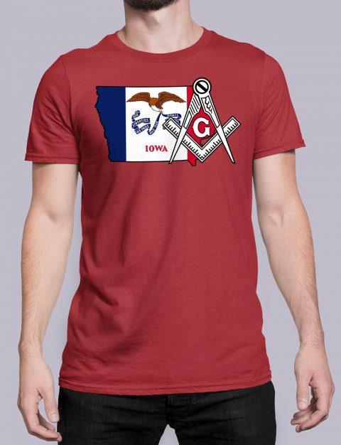 Iowa Masonic Tee Iowa red shirt
