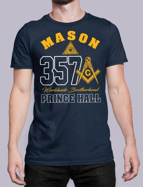 MASON 357 PRINCE HALL T-Shirt MASON 357 PRINCE HALL navy shirt 19