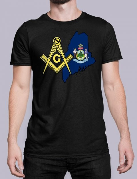 Maine Masonic Tee Maine black shirt